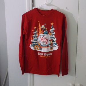 Disney Parks Christmas Party 2015 Red Shirt S